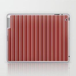 Vintage New England Shaker Village Milk Paint Barn Red Small Vertical Bedding Stripe Laptop & iPad Skin