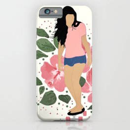 Skater Girl Flowers iPhone Case