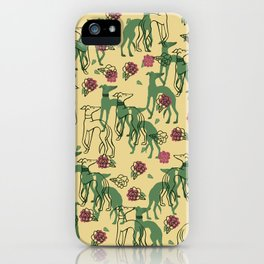Greyhounds and Roses iPhone Case