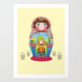 Russian doll Art Print