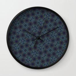 Crossed Eyes, Crossed Hearts : A Geometric Mandala Pattern Wall Clock