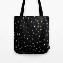 Colored Sparkling Stars Tote Bag