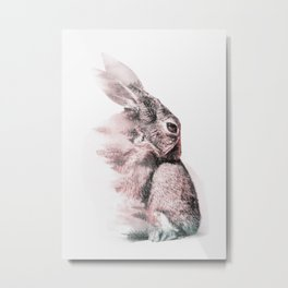 RABBIT 2 Metal Print