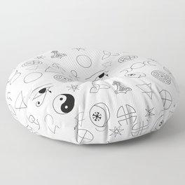 Witchcraft symbols Floor Pillow