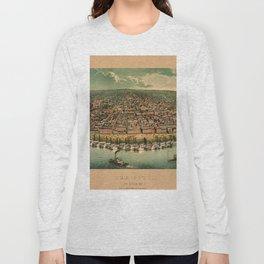 Map Of St. Louis 1859 Long Sleeve T-shirt
