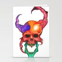 rasta Stationery Cards featuring RASTA DEMON by The Anti-Dan Artwork