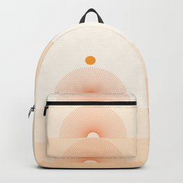 Abstraction_NEW_SUN_LINE_GRADIENT_POP_ART_Minimalism_028AD Backpack