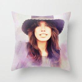 Carly Simon, Music Legend Throw Pillow