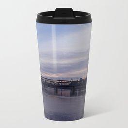 sunset in seattle Travel Mug