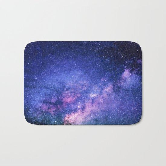 Galaxy, Blue Purple Night Sky, Universe Bath Mat