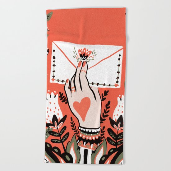 Love Letter Beach Towel