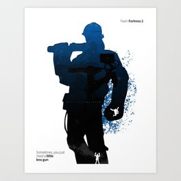 TF2 - Engineer class Art Print