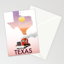 Texas trucking poster Stationery Cards