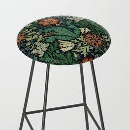 William Morris Compton Floral Art Nouveau Pattern Bar Stool
