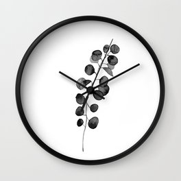 Watercolor Eucalyptus Wall Clock