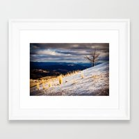 one tree hill Framed Art Prints featuring One Tree Hill by Nicholas Graves