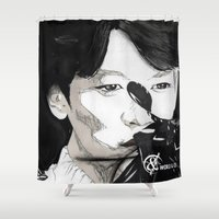 shinee Shower Curtains featuring SHINee's Minho by Worldandco