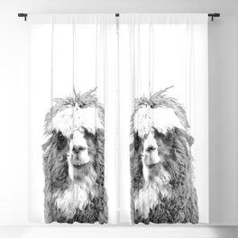 Black and White Alpaca Blackout Curtain