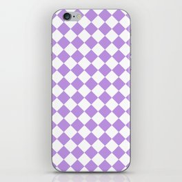 Diamonds - White and Light Violet iPhone Skin