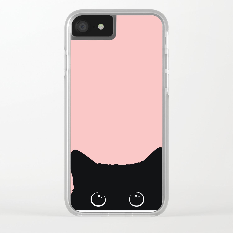 brand new 5c9d8 430c3 Black Cat Clear iPhone Case