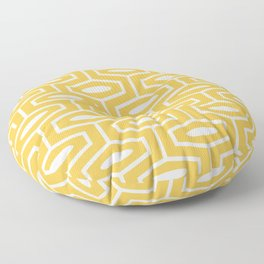 Geometric Ogee Pattern 130 Yellow Floor Pillow