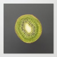 kiwi Canvas Prints featuring kiwi by jon hamblin