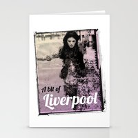 liverpool Stationery Cards featuring LIVERPOOL by TOO MANY GRAPHIX