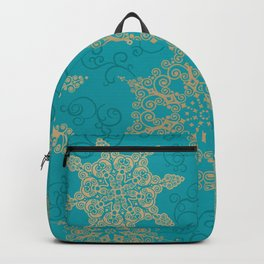 Winter Pattern (turquoise/golden) Backpack