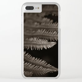 Toned Ferns Reach From The Dark Clear iPhone Case