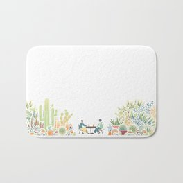 Chai and Cacti - color Bath Mat