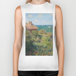 Fisherman's Cottage at Varengeville by Claude Monet Biker Tank