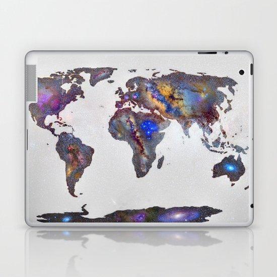 Stars world map Laptop & iPad Skin