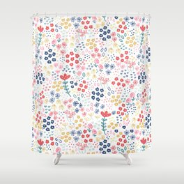 Springtime Floral Shower Curtain