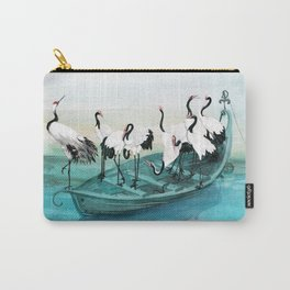White Cranes Carry-All Pouch