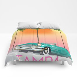 Tampa Florida Travel poster Comforters
