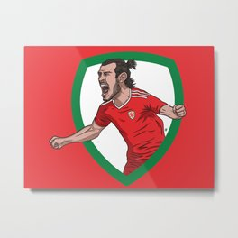 Welsh Dragons Metal Print