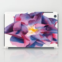 thanksgiving iPad Cases featuring Thanksgiving Dahlia by Powers Fine Art Watercolor Studio