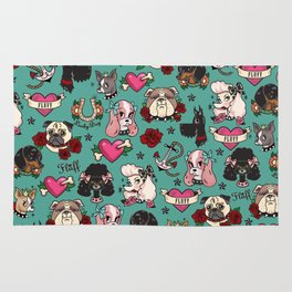 Tattoo Dogs Rug