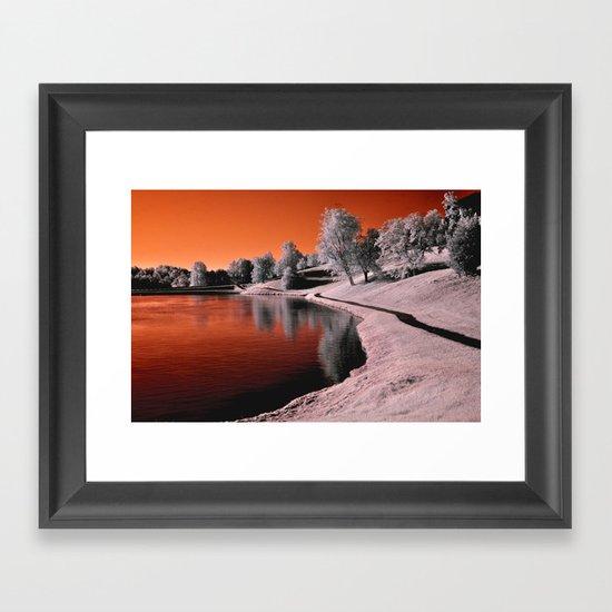 Infrared Sunrise Framed Art Print