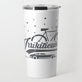 Bicycle with stars and small car Travel Mug