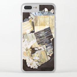 Pyrite and Quartz Clear iPhone Case