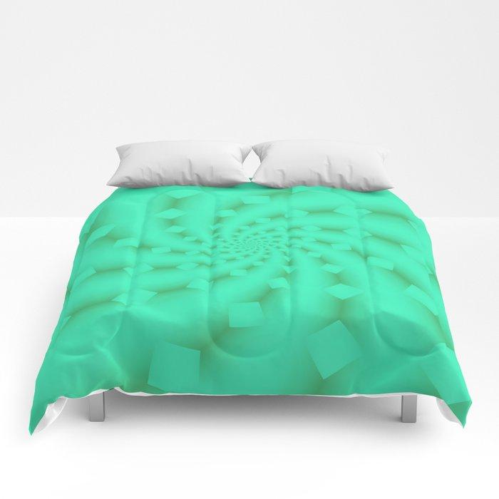 Tess Fractal in Honeydew Comforters