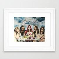 "pretty little liars Framed Art Prints featuring Pretty Little Liars - ""Red Coat""   Drawing by CorySimpsonArt"