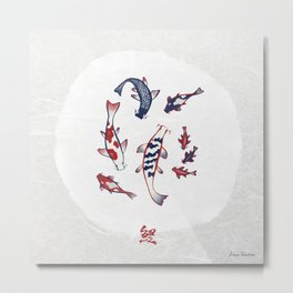 Carp / Koi (鯉) Metal Print