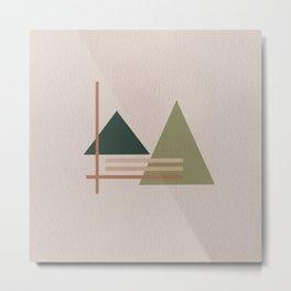 The Trees Minimal Abstract Art Metal Print