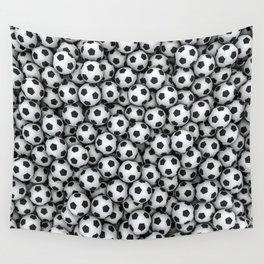 Soccer balls Wall Tapestry