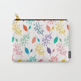 Abstract nature leaves cut out shapes. Carry-All Pouch