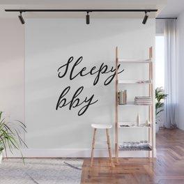 Sleepy baby Wall Mural