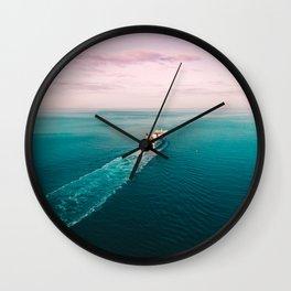 Irish Ferry leaving Dublin port Wall Clock