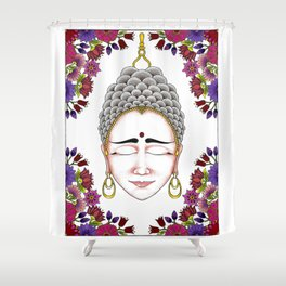 MauindiArts Contemplation Print Shower Curtain